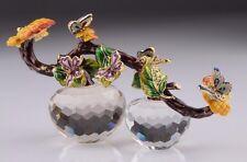 Crystal Apple w / butterfly Trinket Box by Keren Kopal Swarovski Crystal