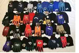 NFL KNIT BEANIE AND GLOVE SET( PICK YOUR TEAM  ) ADDING TEAMS