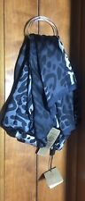 New BURBERRY $450 Animal Leopard Print Sheer Silk Scarf Last One!