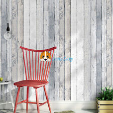 Rustic Shabby Chic French Provincial Timber Plank Wallpaper With Pale Blue 10M