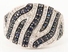 NEW / EFFY Animal print statement Ring / 2 CT Diamond & Ceylon Blue sapphire /