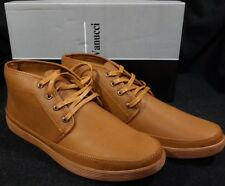 New Franco Vanucci Mens Lace Up Chukka Sneakers 8675 Tan (Size 10.5 Fits 9.5)