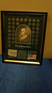 """New York Historical Society Framed """"The Jefferson Era"""" Nickel Collection 13 x 16"""
