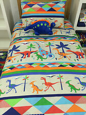 Jiggle Giggle Dino Land Dinosaur Boys Queen Bed Quilt Cover Set