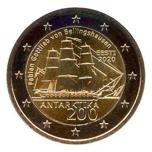 2 Euro Münze Estland 2020 Antarktis Gedenkmünze Sondermünze