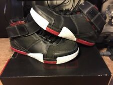 New Nike Zoom Lebron II 2 Black White Metallic Silver Varsity Red Size 10.5