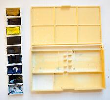 VINTAGE Winsor & Newton watercolour paint pocket box - 9 large pans