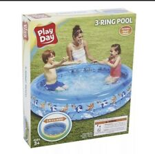 New listing Play Day Round Inflatable 3-Ring Pool Kids outdoor new