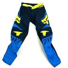 FOX RACING 180 Bue/Yellow Performance Racewear Pants Youth Kid Size 10-26