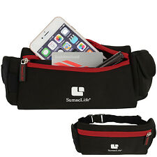 Red Outdoor Sports Cycling Running Belt Waist Pack Bag for Iphone 7 Plus 6S Plus