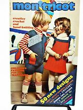 Mon Tricot Children Edition 1973 Knitting Crochet Patterns 50 Designs