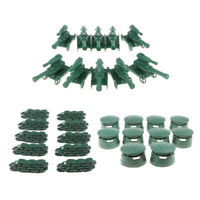 30pcs Shelters Bunkers Artillery Model Soldier Army Base Playset Replacement