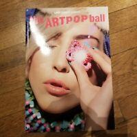 Rare Lady Gaga Art Pop Ball Tour Program 2014 Jeff Koons Artwork