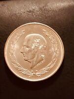 1953 Mexico Silver 5 Pesos Hidalgo XF/AU 72% Silver