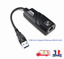 USB 3.0 to Ethernet RJ45 LAN Network Adapter 10/100/1000 Gigabit Computer PC UK