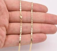 2.3mm Mariner Gucci Anchor Link Chain Necklace Real Solid 10K Yellow Gold
