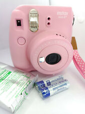 Fujifilm Instax MINI 8+ Instant Camera - STRAWBERRY PINK with 10 shots Film Pack