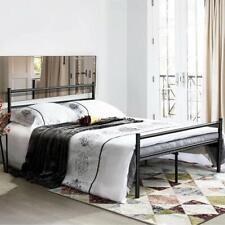 Doppelbett Metallbettgestell mit Lattenrost Gästebett Bettrahmen Jugendbett Kind