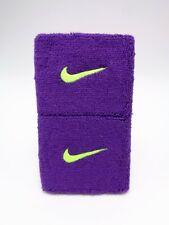 "Nike Swoosh Wristbands Court Purple/Volt 3"" Men's Women's"