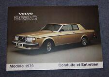 Volvo 262C Bertone 1979 Conduite et Entretien Bedienungsanleitung