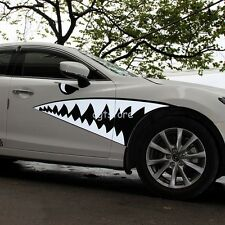 2 x Auto Decor Shark Mouth Decal Smart Vehicle Body Garland Car Body Sticker
