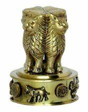 Indian Emblem Ashoka Pillar Handmade Brass Table Decorative Memento Paper Weight