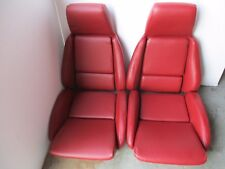 86/88 corvette FLAME RED vinyl seats on foam CAR SET NEW!! NICE!! 87 C4