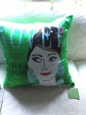 KATE SPADE New York SILK Throw Pillow Dazzle and Delight Green Pillow Nwot