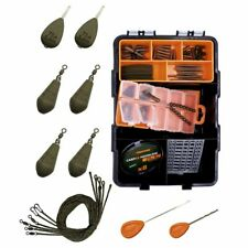 Karpfen Zubehör Set Tackle Box Carp Fishing Kit Power Lead Clip In-line Montagen