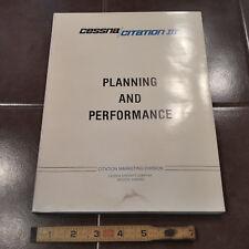 Cessna Citation Iii Planning & Performance Manual