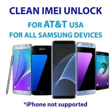 UNLOCK SERVICE CODE AT&T SAMSUNG GALAXY S3 S4 S5 S6 S7 EDGE S8 +PLUS NOTE8 S9