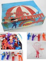 Vintage Box of Rinco Freefalling Parachute Army Men NOS Unused Dime Store Toys