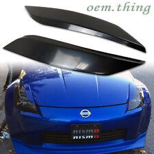 STOCK LA Unpaint FOR Nissan 350Z Z33 Fairlady Eyelids Headlight Cover Pair