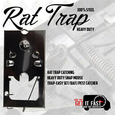2X RAT TRAP CATCHERS HEAVY DUTY PACK OF 2 SNAP MOUSE TRAP-EASY FOR HOME OFFICE