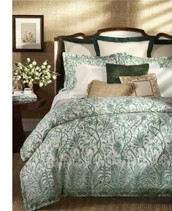 Ralph Lauren Charleston Preslie KING DUVET Cover Botanical Green MSRP $430 NEW!