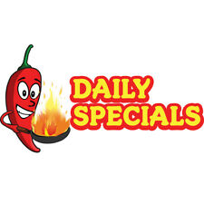 Daily Specials Concession Decal Sign Cart Trailer Stand Sticker Equipment