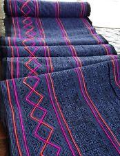 Vintage Style Hmong Batik handprint Textile Purple Tribal Fabric Craft Supplies