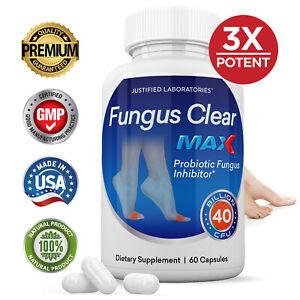 Fungus Clear Max 40 Billion CFU Probiotic Improves Toe Nail Health 60 Caps