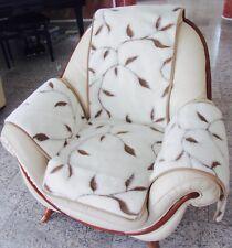 """Housse de fauteuil """" branches """", fauteuil, Coussin chaise, jeté ,100% laine"""