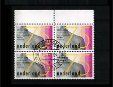 [A56_070] 1988 - Netherlands NVPH 1403 used (4-block) - 75 years Dutch cancer in