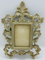 Antique Victorian Brass Cast Rococo Revival Picture Photo Picture Frame