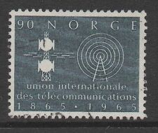 Norway Sc#472 ITU Centenary 1965, Used VF
