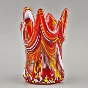 Korallenteelicht, Teelicht, Glas-Windlicht, Deko, ca. 12x8 cm, Glaskunst-Schmidt