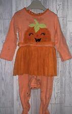 Girls Age 9-12 Months - Halloween Pumpkin Sleepsuit