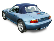 BMW Z3 1996-2002 Convertible Soft Top & Plastic Window Blue Twillfast II Canvas