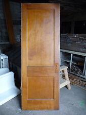 Antique Craftsman Style 2 Panel Interior Door - C. 1910 Architectural Salvage