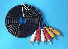 AV Cable 3RCA 3 RCA Male Audio Video Cord Composite Yellow/Red/White TV DVD 3M