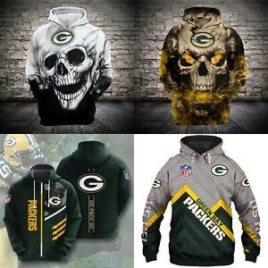 Green Bay Packers Fans Hoodie Football Pullover Sweatshirt Casual Jacket Gift