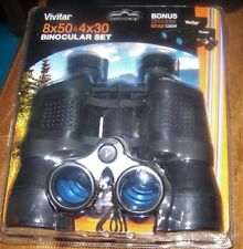 Vivitar 8X50 & 4X30 Binoculars Set Bird Watching Hunring New In Package