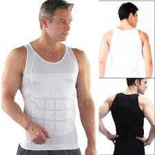 US Mens Slimming Shirt Body Shaper Vest Compression Tank Tops Corset Shapewear
